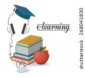 e learning design over white...   Shutterstock .eps vector #268041830