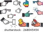 pixel hand collection. set of... | Shutterstock .eps vector #268045454