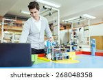 male electrical engineer...   Shutterstock . vector #268048358