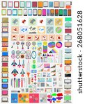 collection of flat web... | Shutterstock .eps vector #268051628