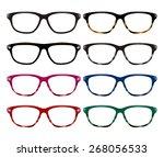 illustration of glasses. ... | Shutterstock . vector #268056533
