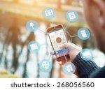 smart house device illustration ... | Shutterstock . vector #268056560