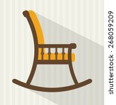 Rocking chair. Flat style vector illustration.