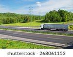a country landscape with... | Shutterstock . vector #268061153