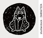 doodle dog   Shutterstock .eps vector #268067324