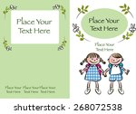 kids book cover design with... | Shutterstock .eps vector #268072538