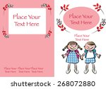 kids book cover design with red ... | Shutterstock .eps vector #268072880
