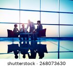 business team discussion... | Shutterstock . vector #268073630