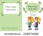 kids book cover design with... | Shutterstock .eps vector #268074680