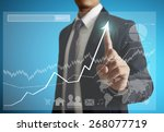 businessman with financial... | Shutterstock . vector #268077719