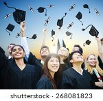student celebration education... | Shutterstock . vector #268081823