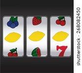 slot machine threesome lemons | Shutterstock .eps vector #268082450