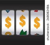 slot machine  threesome symbol... | Shutterstock .eps vector #268082486