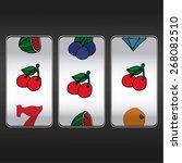 slot machine threesome cherrys | Shutterstock .eps vector #268082510