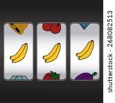 slot machine threesome bananas | Shutterstock .eps vector #268082513