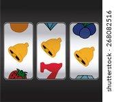 slot machine threesome bells | Shutterstock .eps vector #268082516