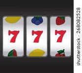 slot machine threesome sevens | Shutterstock .eps vector #268082528