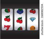 slot machine cherry   and ... | Shutterstock .eps vector #268082534