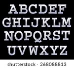 vector font with bulbs. | Shutterstock .eps vector #268088813