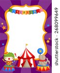 carnival circus card | Shutterstock .eps vector #268099649