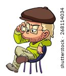 cartoon movie director sitting... | Shutterstock .eps vector #268114034