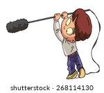 sound recordist at work on...   Shutterstock .eps vector #268114130