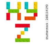 alphabet set made of toy... | Shutterstock .eps vector #268114190