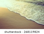 sea beach   vintage filter and... | Shutterstock . vector #268119824