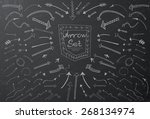 hand drawn arrow icons set on... | Shutterstock .eps vector #268134974