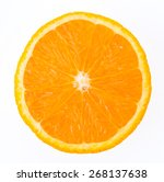 orange fruit isolated on white... | Shutterstock . vector #268137638