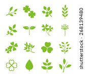 green nature icon set | Shutterstock .eps vector #268139480
