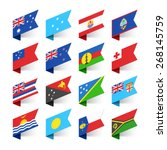 flags of the world  oceania ... | Shutterstock .eps vector #268145759