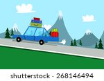 holiday vacation car background | Shutterstock .eps vector #268146494