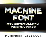 vector of metallic alphabets | Shutterstock .eps vector #268147034