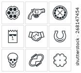 Russian Roulette Game Icons ...
