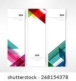 header set of three banner... | Shutterstock .eps vector #268154378