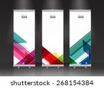 roll up banner stand design.... | Shutterstock .eps vector #268154384