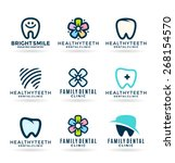 dental icons. stomatology  3  | Shutterstock .eps vector #268154570