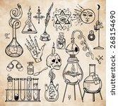 Set Of Trendy Vector Alchemy...