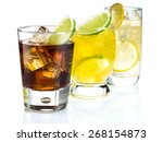 mixed drinks on white background | Shutterstock . vector #268154873