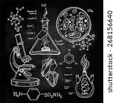 hand drawn science beautiful... | Shutterstock .eps vector #268156640