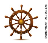 Ship Wheel Marine Wooden...