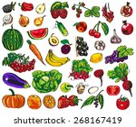illustration of colorful... | Shutterstock .eps vector #268167419
