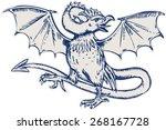 etching engraving handmade... | Shutterstock .eps vector #268167728