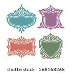 oriental vintage frames | Shutterstock .eps vector #268168268
