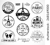 paris badges and labels in... | Shutterstock .eps vector #268169000
