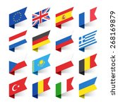 flags of the world  europe  set ... | Shutterstock .eps vector #268169879
