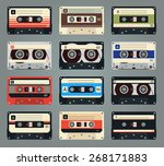 set of retro audio cassettes.... | Shutterstock . vector #268171883