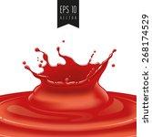 splash of red fruit vector | Shutterstock .eps vector #268174529