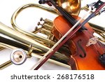 details of a violin and a... | Shutterstock . vector #268176518